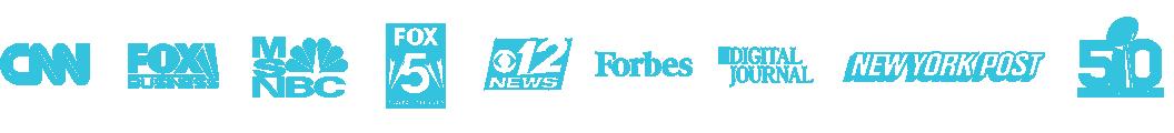CNN, Fox Business, MSNBC, Fox 5 San Diego, ABC 12 News, Forbes, Digital Journal, New York Post