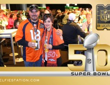 Super Bowl NFL on Location Selfie Station