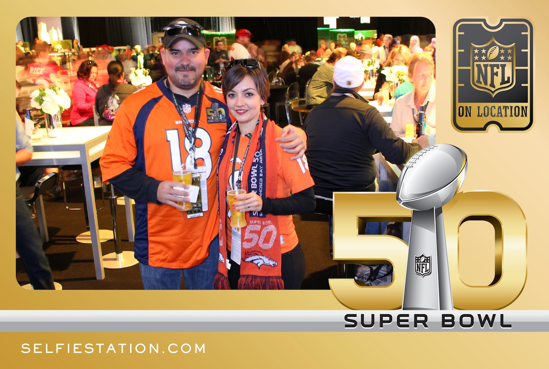 Super Bowl NFL on Location Selfie Station
