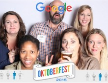 Google employees enjoy Selfie Station