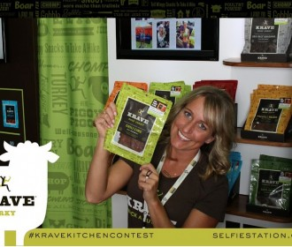 Selfie Station trade show with Krave Jerky