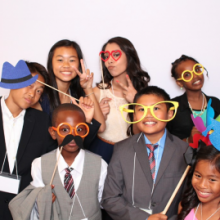 Selfie Station kids party photos